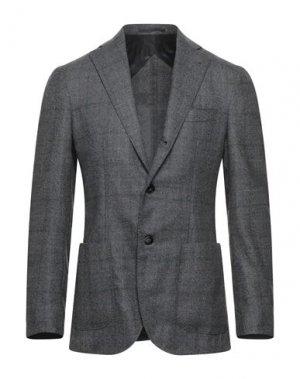 Пиджак BARBA Napoli. Цвет: серый