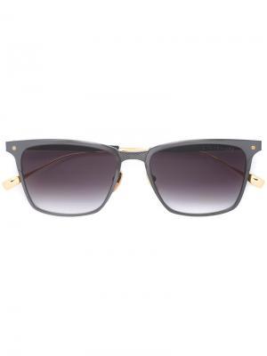 Солнцезащитные очки в квадратной оправе Dita Eyewear. Цвет: серый