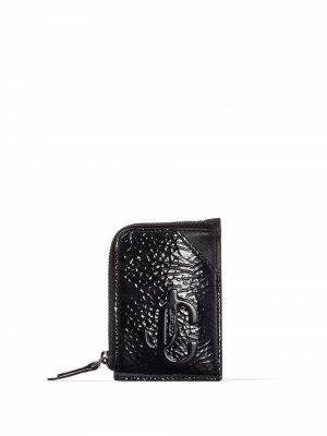 Leather chain-detail cardholder Jimmy Choo. Цвет: черный