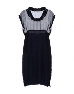 Короткое платье ANIS. Цвет: темно-синий