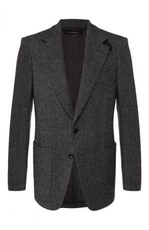 Шерстяной пиджак Tom Ford. Цвет: серый