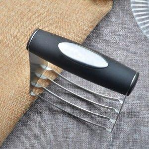 Ручной блендер теста 1шт SHEIN. Цвет: чёрный
