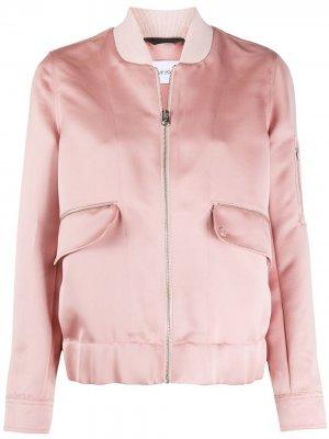Бомбер на молнии Calvin Klein. Цвет: розовый