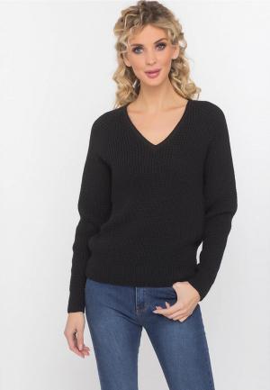 Пуловер Gloss. Цвет: черный