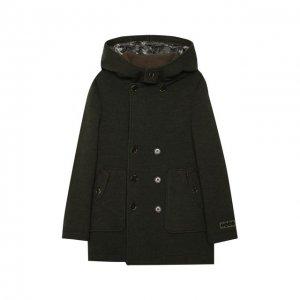 Шерстяное пальто Dolce & Gabbana. Цвет: хаки