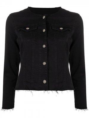 Приталенная джинсовая куртка 7 For All Mankind. Цвет: черный
