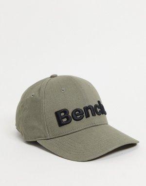 Оливковая кепка с большим логотипом -Зеленый цвет Bench