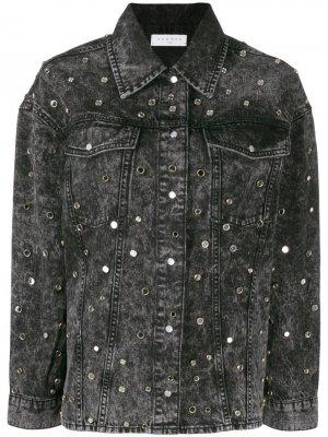 Декорированная джинсовая куртка Sandro Paris. Цвет: черный