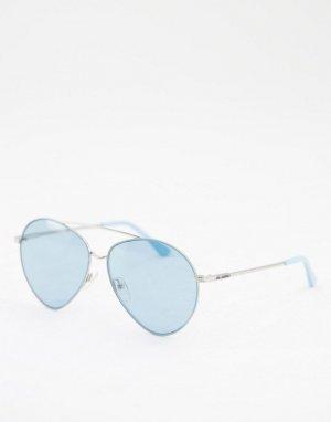 Синие солнцезащитные очки-авиаторы -Голубой Karl Lagerfeld