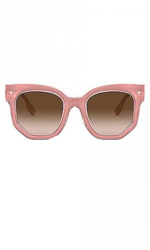 Солнцезащитные очки primrose Burberry. Цвет: розовый