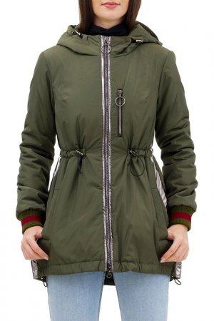 Куртка-бомбер Pavel Yerokin. Цвет: темный хаки,серебристый