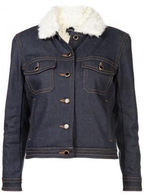 Джинсовая куртка с отделкой Khaite