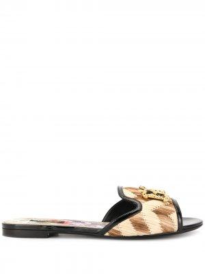 Сандалии Bianca Dolce & Gabbana. Цвет: черный