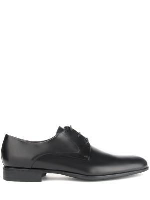 Кожаные туфли-дерби MORESCHI. Цвет: черный