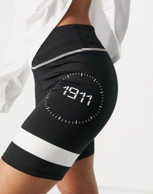 Черные шорты-леггинсы Digit-Черный цвет Fila