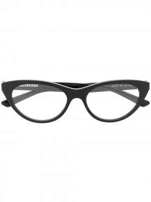 Cat-eye glasses Balenciaga Eyewear. Цвет: черный