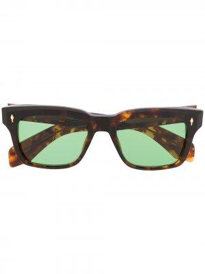 Солнцезащитные очки в оправе черепаховой расцветки Jacques Marie Mage. Цвет: коричневый