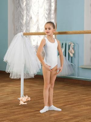 Гимнастический купальник Arina Ballerina. Цвет: белый
