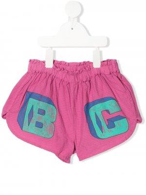 Короткие шорты с логотипом Bobo Choses. Цвет: розовый