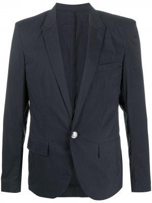 Пиджак строгого кроя Balmain. Цвет: синий