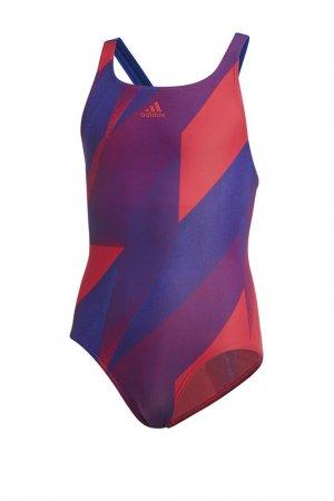 Купальник YA SWIM TKYSUIT adidas. Цвет: мультиколор, фиолетовый