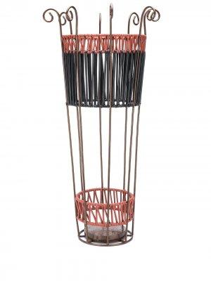 Плетеная подставка для зонтов MARNI INTERIORS. Цвет: черный