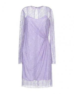 Платье до колена ALEXANDR ROGOV. Цвет: сиреневый