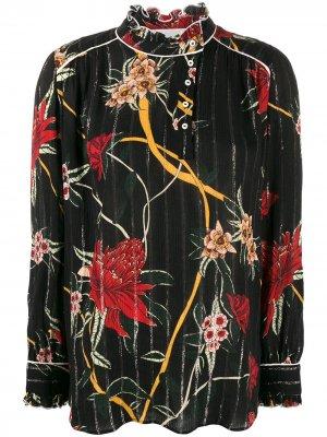 Блузка Paulin с цветочным принтом Ba&Sh. Цвет: черный