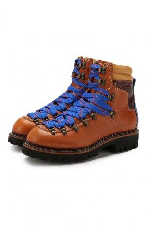 Кожаные ботинки Dsquared2. Цвет: коричневый