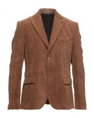 Пиджак GREY DANIELE ALESSANDRINI. Цвет: коричневый