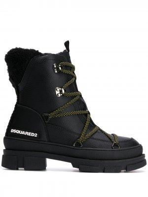 Ботинки на шнуровке Dsquared2. Цвет: черный