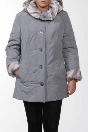 Пальто Exclusive. Цвет: серый