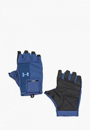 Перчатки для фитнеса Under Armour UA Mens Training Glove. Цвет: синий