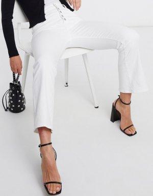 Белые укороченные джинсы-клеш с завышенной талией Lillie-Белый J Brand
