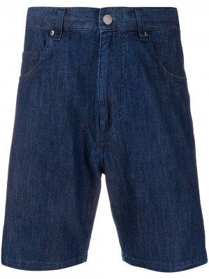 Джинсовые шорты прямого кроя Aspesi. Цвет: синий