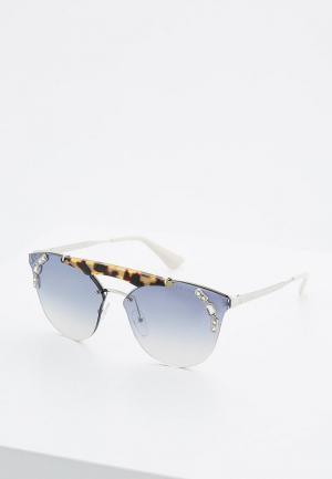 Очки солнцезащитные Prada PR 53US 23C5R0. Цвет: серебряный