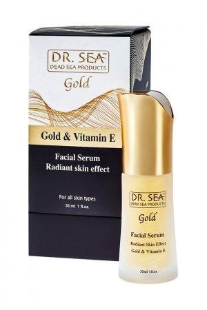 Сыворотка для лица 30 мл DR.SEA. Цвет: золотой