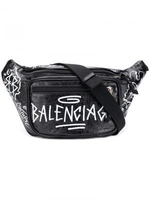 Поясная сумка Explorer Balenciaga. Цвет: черный