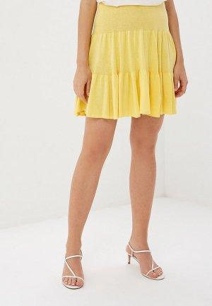 Юбка MaryTes. Цвет: желтый