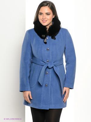 Пальто Klimini. Цвет: голубой