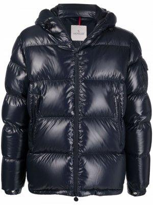 Logo-patch padded jacket Moncler. Цвет: синий