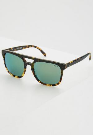 Очки солнцезащитные Polo Ralph Lauren PH4125 56366R. Цвет: коричневый