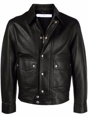 Куртка-рубашка с накладными карманами IRO. Цвет: черный