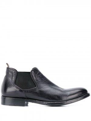 Ботинки с эластичной вставкой Alberto Fasciani. Цвет: черный