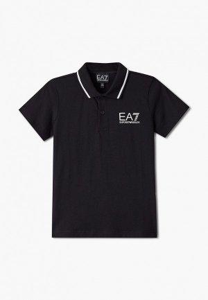 Поло EA7. Цвет: черный