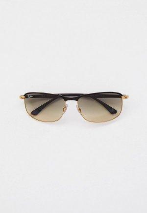 Очки солнцезащитные Ray-Ban® RB3671 187/32. Цвет: золотой