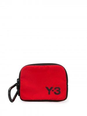 Кошелек на молнии с логотипом Y-3. Цвет: красный