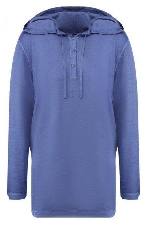 Пуловер из смеси шерсти и шелка Kiton. Цвет: синий