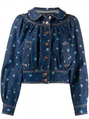Джинсовая куртка с воротником Питер Пэн Marc Jacobs. Цвет: синий