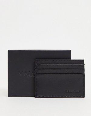 Черная кредитница Adrian-Черный цвет Valentino Bags